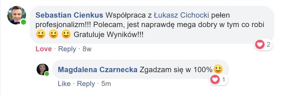 """""""Łukasz Cichocki jest naprawdę dobry w tym, co robi"""" ~ Sebastian Cienkus"""