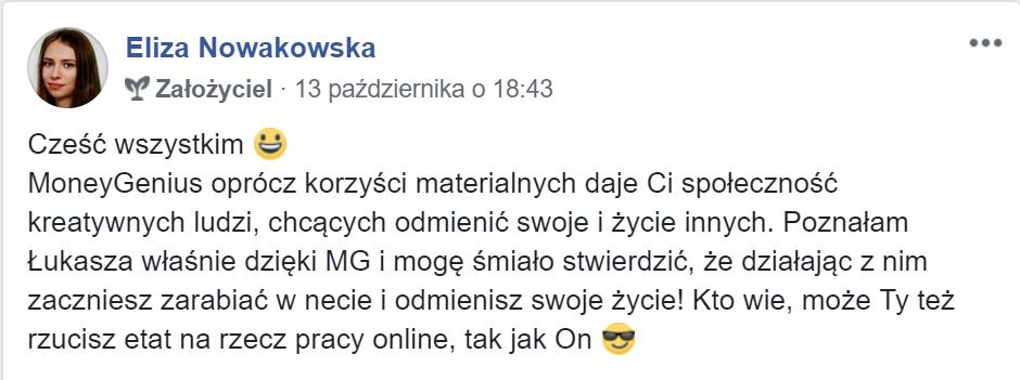 """""""Działając z Łukaszem Cichockim odmienisz swoje życie!"""" ~ Eliza Nowakowska"""