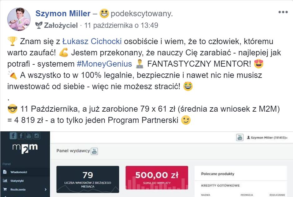Szymon Miller poleca Łukasza Cichockiego!