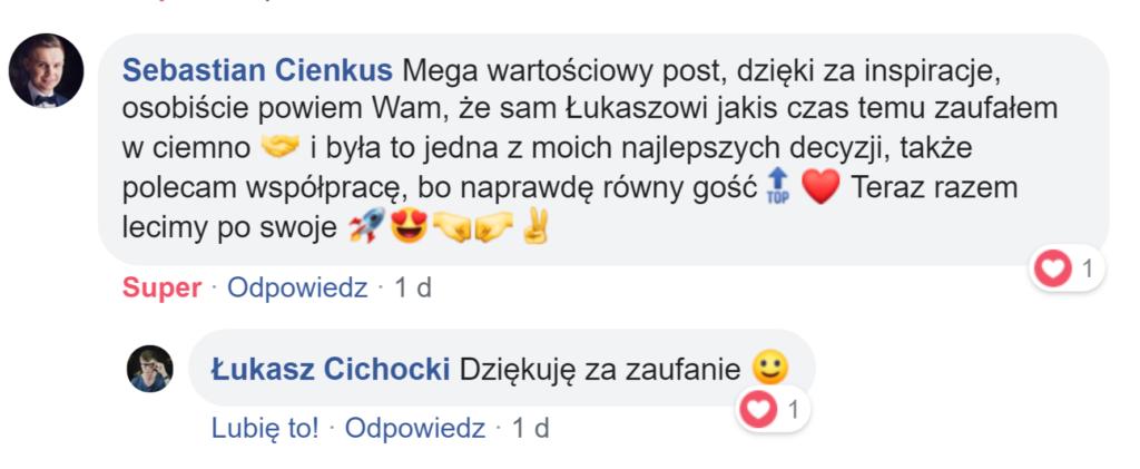 Łukasz Cichocki - pozytywna rekomendacja