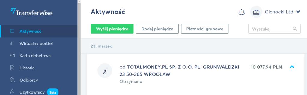 Jeśli zastanawiałeś się, które konto pomieści tak spore wynagrodzenie z pracy online, to śmiało mogę Ci polecić TransferWise