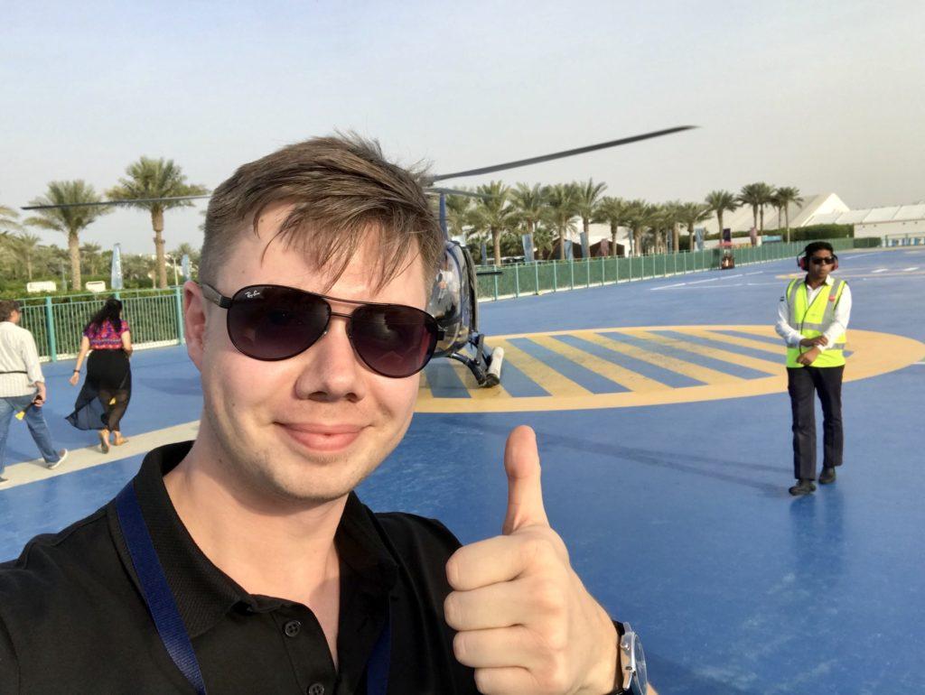 Łukasz Cichocki w Dubaju