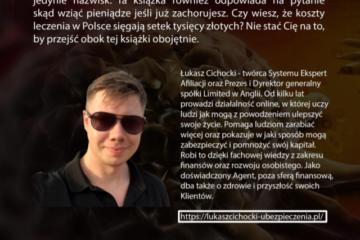 Łukasz Cichocki w swojej książce wypisał 11 cennych rad jak uniknąć raka