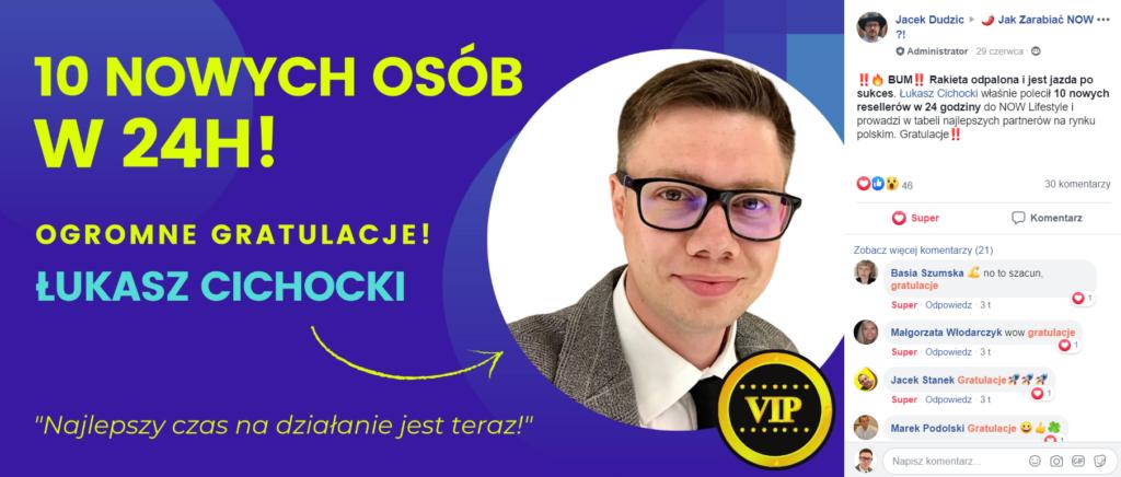 Łukasz Cichocki prowadzi w tabeli najlepszych partnerów na rynku polskim
